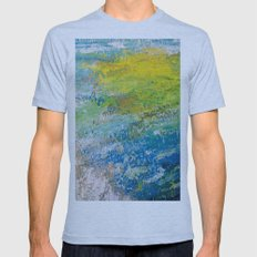 Bright Painting! Mens Fitted Tee Athletic Blue SMALL