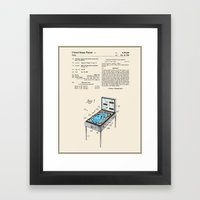 Pinball Machine Patent - Colour Framed Art Print
