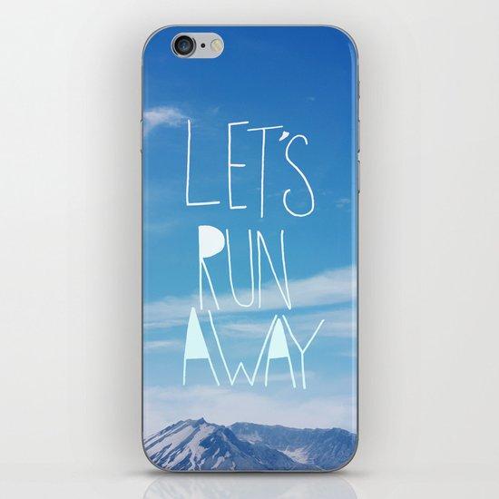 Let's Run Away: Mount Rainier iPhone & iPod Skin