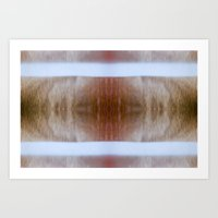 Tree Blinds Art Print