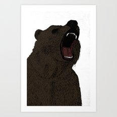 Hear my scream - Bear Art Print