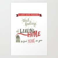 Leaving Home Art Print