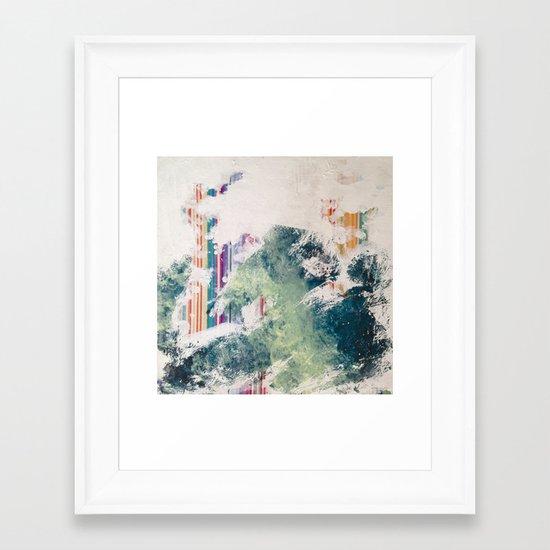 WATER/STRIPE2 Framed Art Print