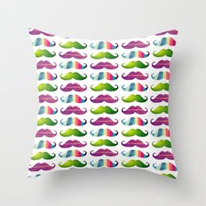 Mustachio special for iPhone Throw Pillow