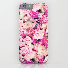 Elegant Pink Chic Floral Pattern Girly Peonies iPhone 6 Slim Case