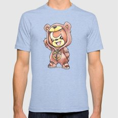 Bear-ly Noticeable Mens Fitted Tee Tri-Blue SMALL