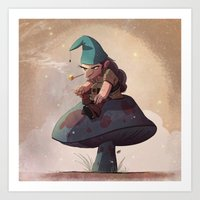 Gnome Away From Home Art Print