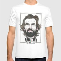 ANDREA PIRLO Mens Fitted Tee White SMALL