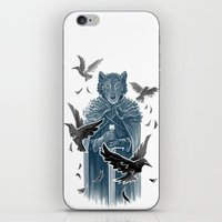 Wolf And Ravens iPhone & iPod Skin