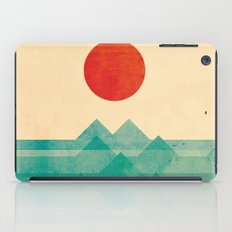 The ocean, the sea, the wave iPad Case