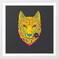 The Unbridled Anger of a Decapitated Direwolf Art Print