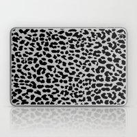 Neon Gray Leopard Laptop & iPad Skin