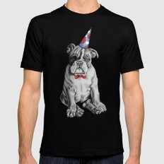Party Dog Mens Fitted Tee Black SMALL