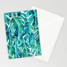 Split Leaf Philodendron – Teal Stationery Cards