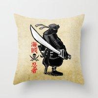 Debate Over: Pirates vs. Ninjas Throw Pillow