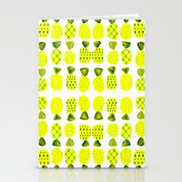 Modern Pineapples Painting Stationery Cards