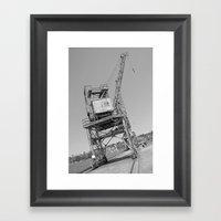 Dockyard crane Framed Art Print