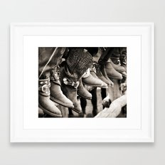 Cowboy Spectators Framed Art Print