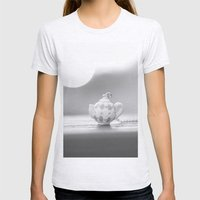 Mini Teapot Womens Fitted Tee Ash Grey SMALL