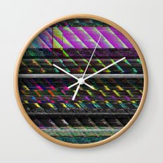 Glitch Nature Wall Clock