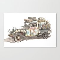 Dustbowl Truck Canvas Print