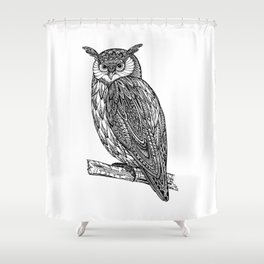Shower Curtain - Owl - UniqueD