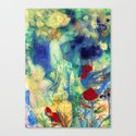 Fairy with Red Flowers Canvas Print