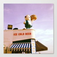 Ice Cold Beer, Coney Island Canvas Print