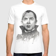 Dracula Bela lugosi Mens Fitted Tee SMALL White