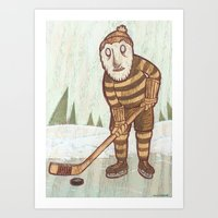 Hockey Yeti Art Print