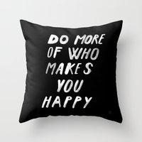 MORE Throw Pillow