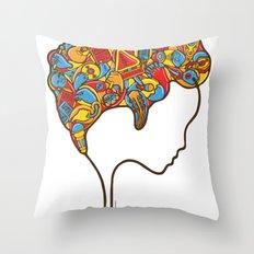 Musical Mind Throw Pillow