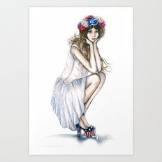 Fourth of July // Fashion Illustration Art Print