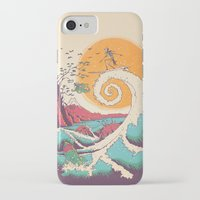 christmas iPhone & iPod Cases featuring Surf Before Christmas by Victor Vercesi