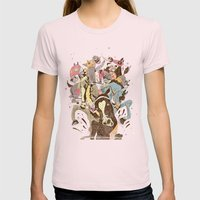 The Great Horse Race! Womens Fitted Tee Light Pink SMALL