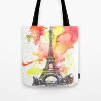 Eiffel Tower in Paris France Tote Bag