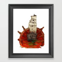 Steering Into A New Sett… Framed Art Print