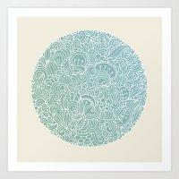 Detailed circle Art Print