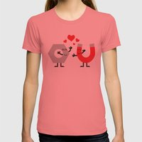 Attraction  Womens Fitted Tee Pomegranate SMALL