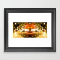 night time lifer Framed Art Print