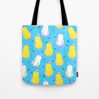 Pears and Ladybugs Tote Bag