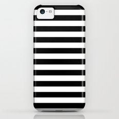 Modern Black White Stripes Monochrome Pattern iPhone 5c Slim Case