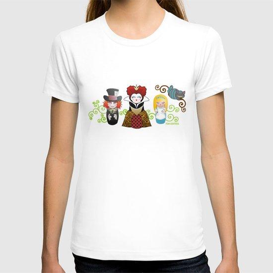 Kokeshis Alice in Wonderland T-shirt