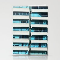 Turquoise Windows Stationery Cards