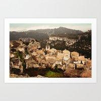 Les Baux De Provence Art Print