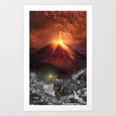 Light the Way (Red Tunic) Art Print