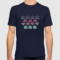 Robots Don't Like Stairs… Mens Fitted Tee Navy SMALL