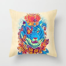 The Siberian Monarch Throw Pillow