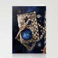 Aqua Space Stationery Cards