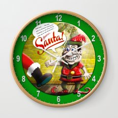 Here's Santa! Wall Clock